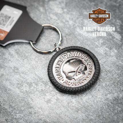 Portachiavi Harley-Davidson®  Willie G Skull Hubcap