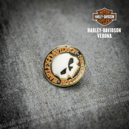 Pin Harley-Davidson® Hubcap Willie G Skull Logo