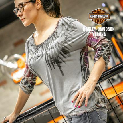 T-Shirt da Donna Rude Riders® Floreale