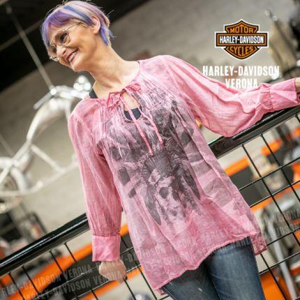 Camicia maniche ¾ Rude Riders® Dark Pink