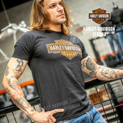 T-Shirt da Uomo Harley-Davidson® VERONA ''Long Black Logo''