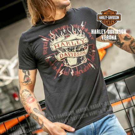 T-Shirt H-D® Verona Engine Decal