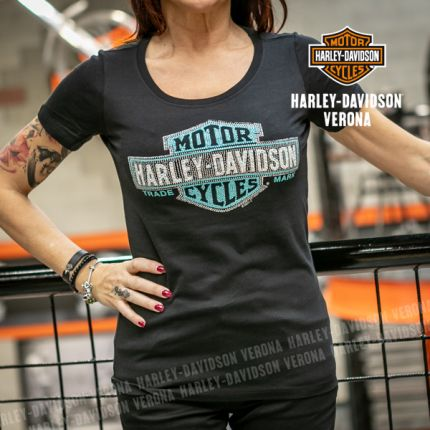 T-Shirt H-D® Scoop Black Blue