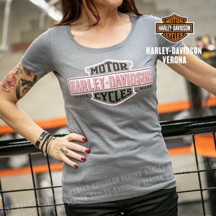 T-Shirt H-D® Verona Multiply Scoop Grey