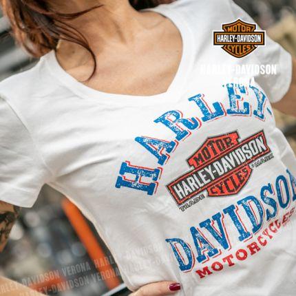 T-Shirt Logo H-D® Verona Picnic White