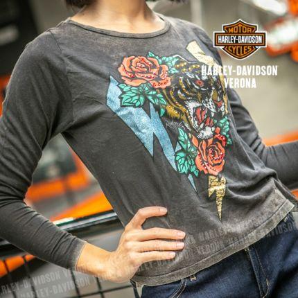 T-Shirt maniche lunghe Rude Riders® Tiger Bolt
