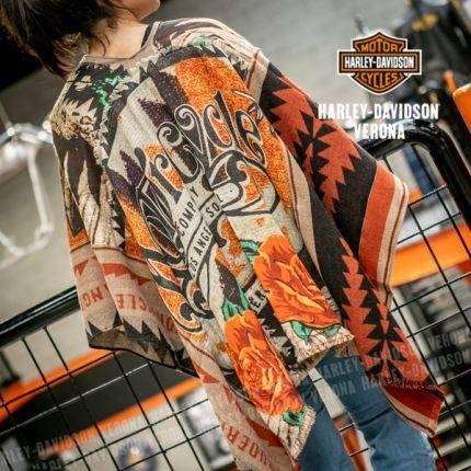 Poncho Rude Riders® MOTORCYCLE MEX SKULL