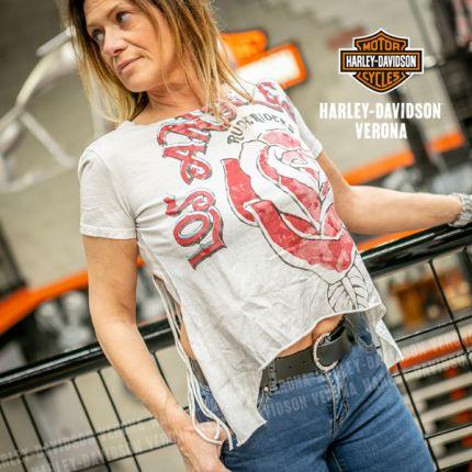 T-shirt da Donna Rude Riders® L. A. Tatoo Bianca