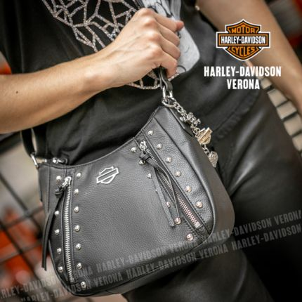 Borsa a Tracolla da Donna Harley-Davidson® in Pelle, Black
