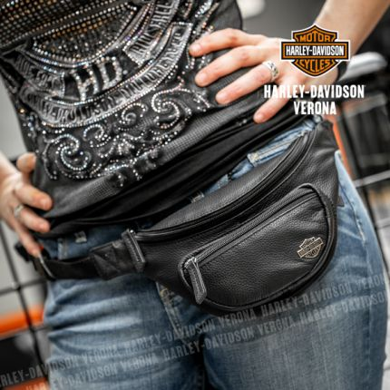 Marsupio Harley-Davidson® in Pelle nera