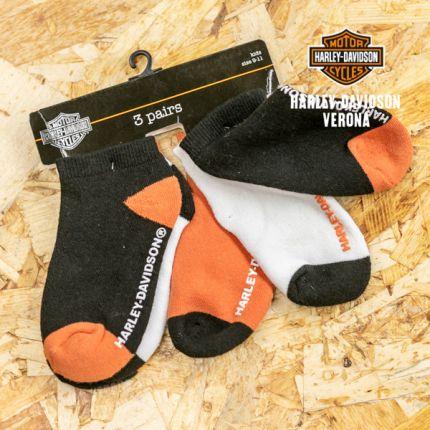 Tris di calzine antiscivolo Harley-Davidson® in tre colori diversi 9-12 anni