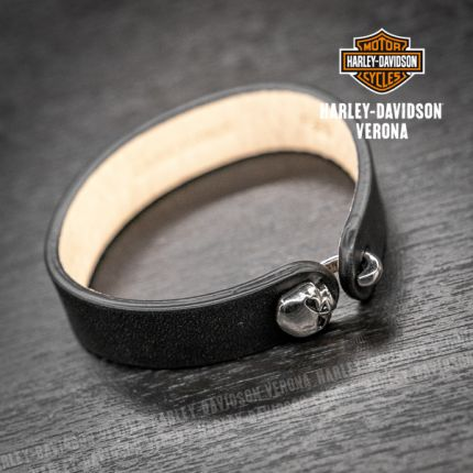 Braccialetto Pelle Harley-Davidson® Con Chiusura Teschio Willie G.