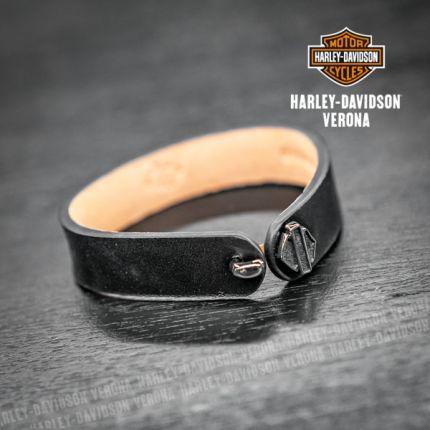 Braccialetto Pelle Harley-Davidson® Con Chiusura B&S