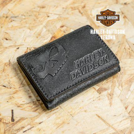 Portafoglio Harley-Davidson® pieghevole in pelle