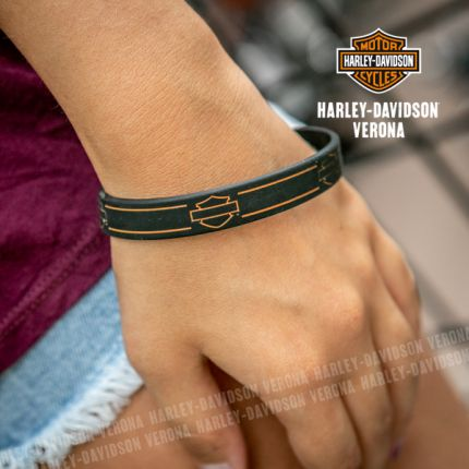 Bracciale Harley-Davidson® Bar & Shield in Silicone