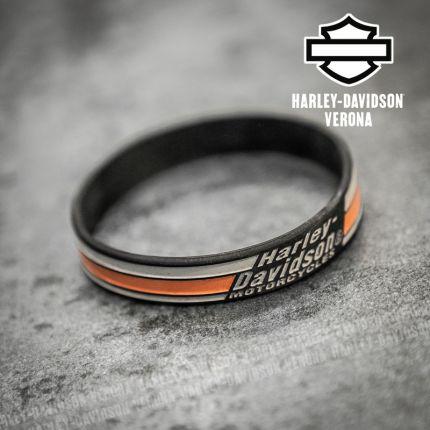 Bracialetto Harley-Davidson® Stripes Black Silicone
