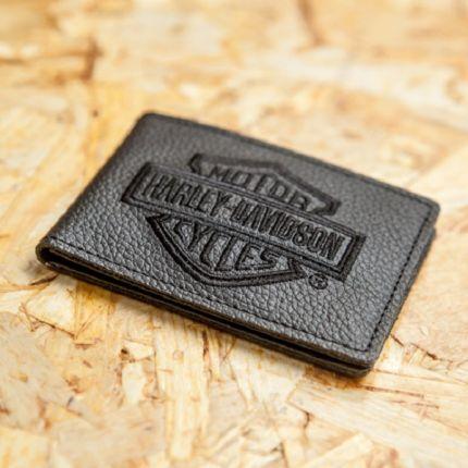 Porta carte di credito Harley-Davidson® con ricamo B&S