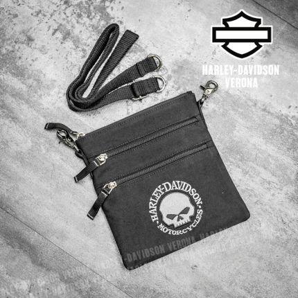 Tracolla Harley-Davidson® Willie G Skull Clip Bag