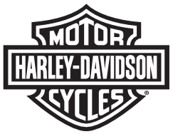 Patch Harley-Davidson® Teschio Bianco e Nero in pelle