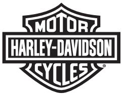 Porta carte di credito in pelle nera con #1 Harley-Davidson®